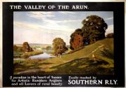 Valley of the Arun, Sussex. Southern Railways (SR) Vintage Travel Poster by Albert George Petherbridge